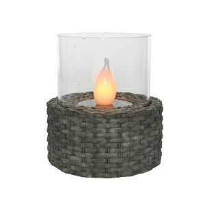 Dark Woven Base Table Light