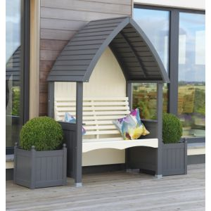Charcoal & Cream Cottage Arbour