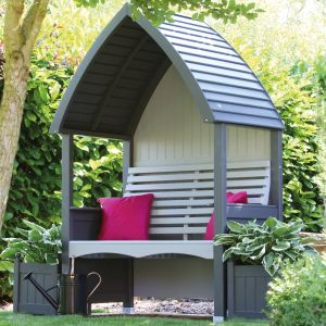 Charcoal & Stone Cottage Arbour