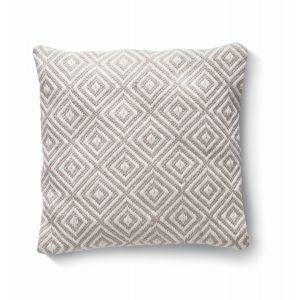 Natural Woven Diamond Cushion