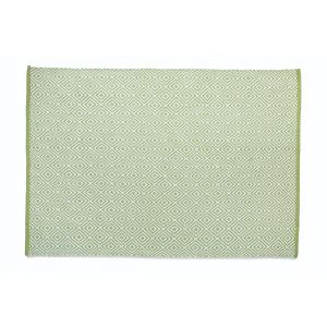 Green Woven Diamond Rug 80x150cm