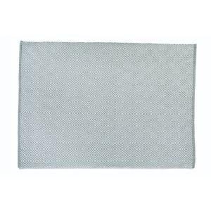 Sky Grey Woven Diamond Rug 120x170cm
