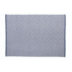 Navy Woven Diamond Rug 120x170cm
