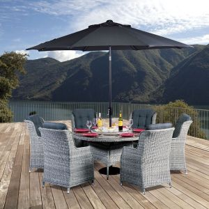 Lazia Six Seat Dining Set