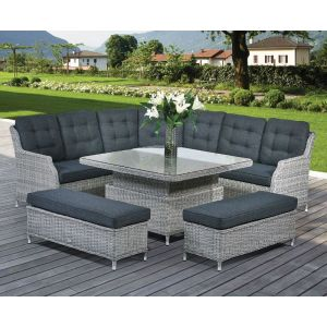 Lazia Curved Modular Dining Set