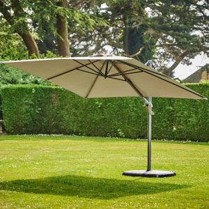 Provence Deluxe 3.3m Parasol - Grey