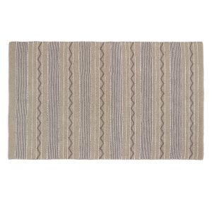 Natural Woven Rustic Stripe Rug 80x150cm